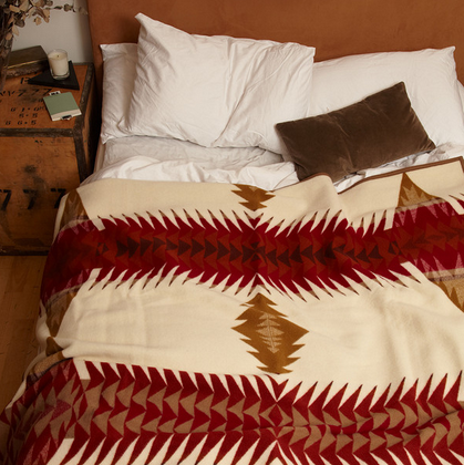Branded arrow Pendleton blanket, £300, Fate