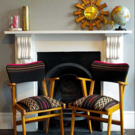 Titicaca chair (pair ) upholstered in hand woven Bolivian fabric, £250, A Rum Fellow