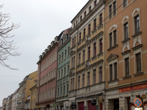 Typical street in the Neustadt, Dresden