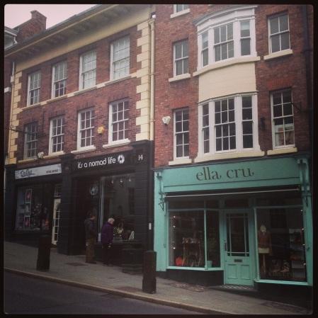 Ella Cru & It's a Nomad Life, Wyle Cop, Shrewsbury