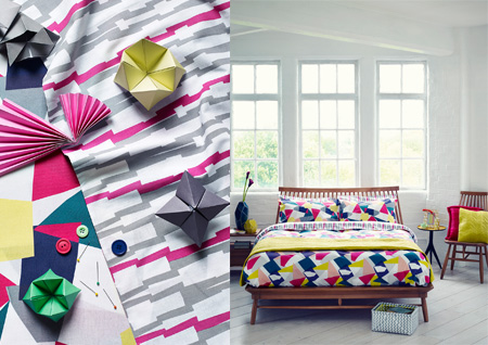 Linea 'Graphical Rhythm' bedroom, Photography by Jake Curtis, Styling by Abigail Edwards