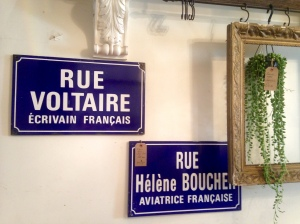 Vintage French signs